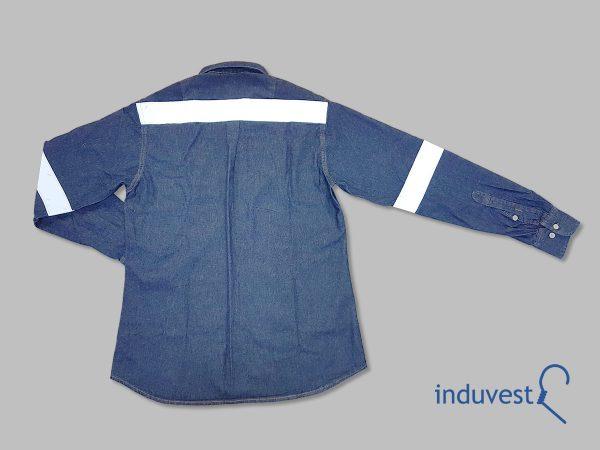 Camisa Jean Trabajo Reflectiva - espalda